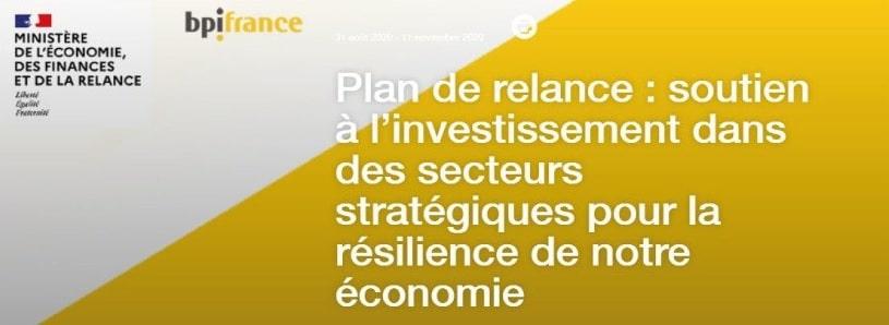 Soutien à l'investissement dans des secteurs stratégiques pour la résilience de notre économie